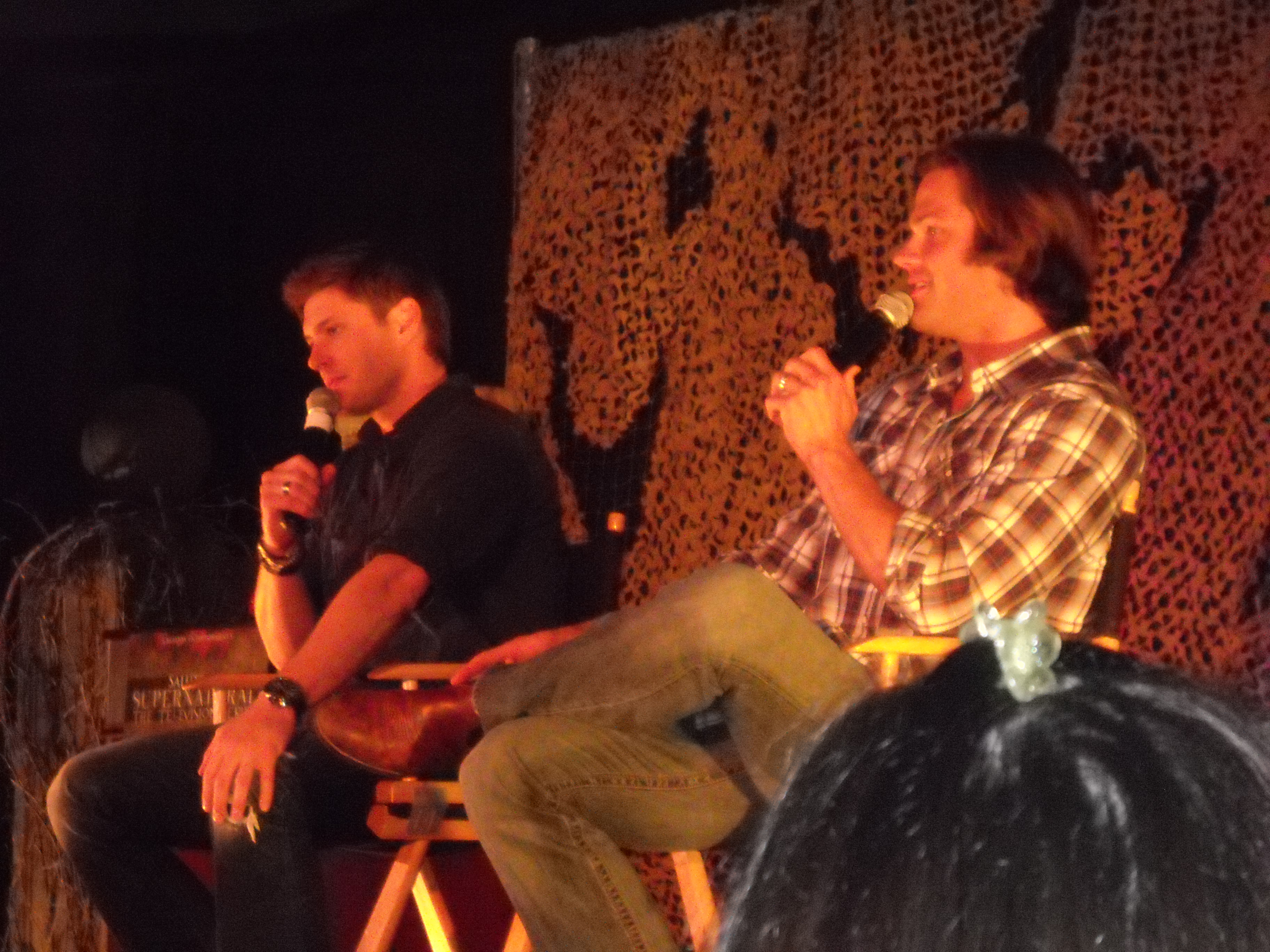 A chat with jared and jensen on living sam and dean costars who la 2010 supernatural convention kristyandbryce Images