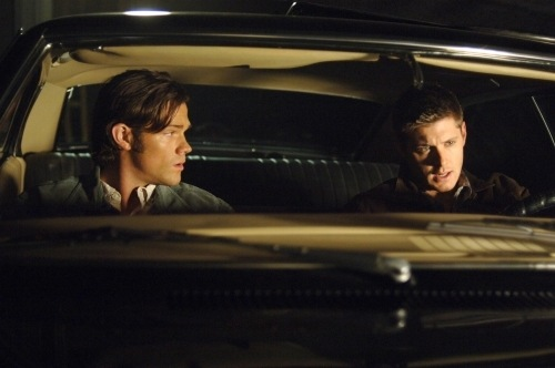 Dean is not amused by Sam's music choices. Warner Bros. television