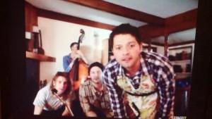 Misha looking good in an apron...
