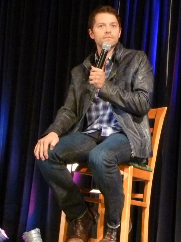 Misha Collins looks good in leather...