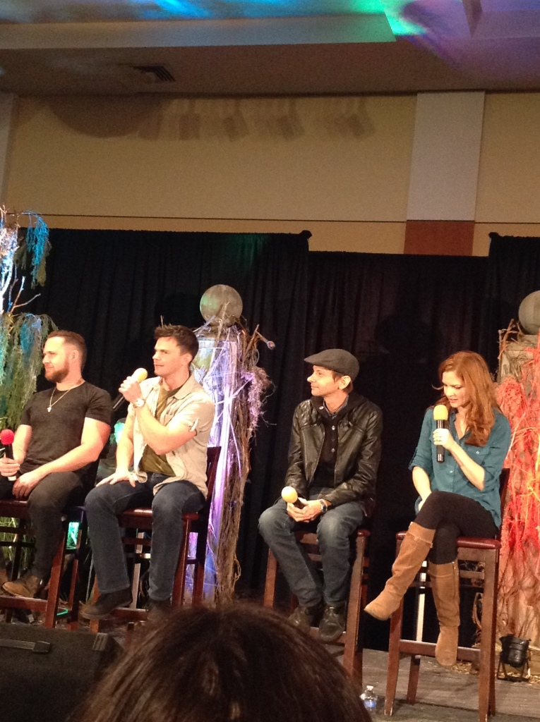Ghostfacers, DJ and Shannon amuse the crowd