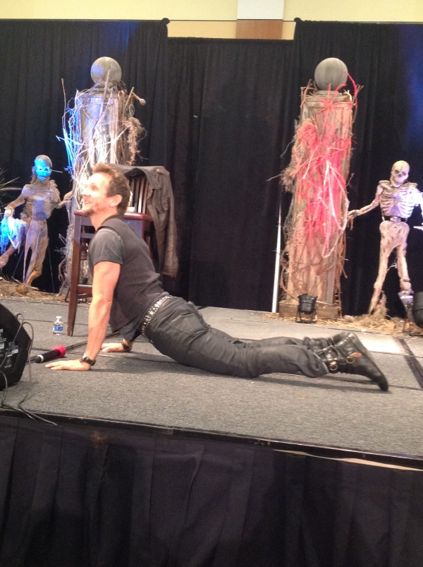 Sebastian shows off his dance moves
