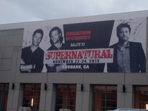 Banner outside Burbank Con Hotel