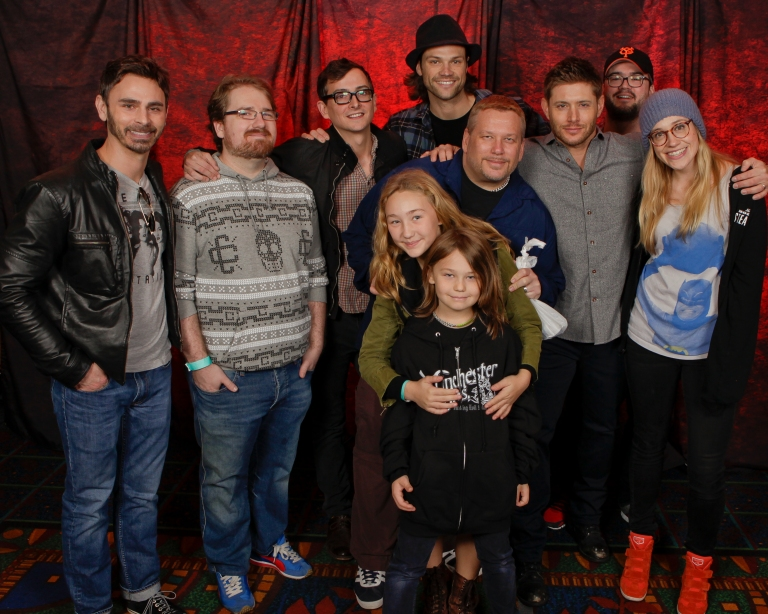 Photo Op! SPN Writers with Jared and Jensen - photo Chris Schmelke