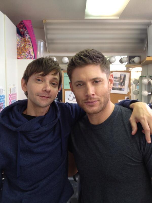 DJ and Jensen on set - awww