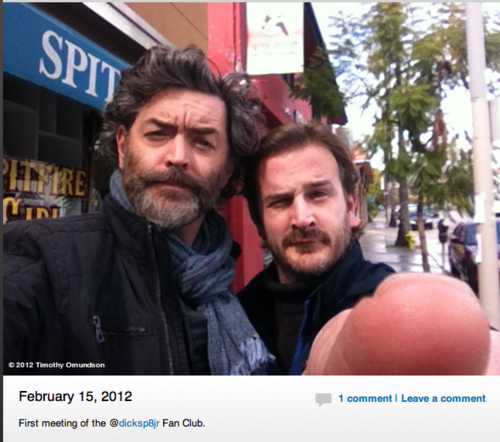 Tim Omundsun tweets a selfie w Richard
