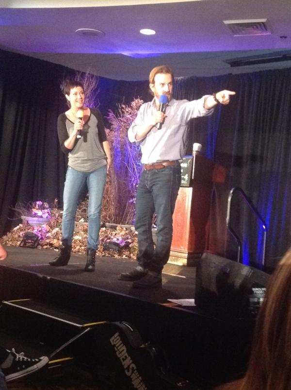 Kim and Richard onstage
