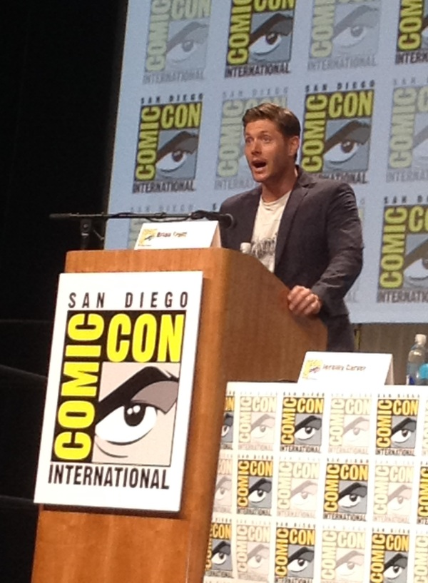 Director Jensen reacts to the teeming crowd