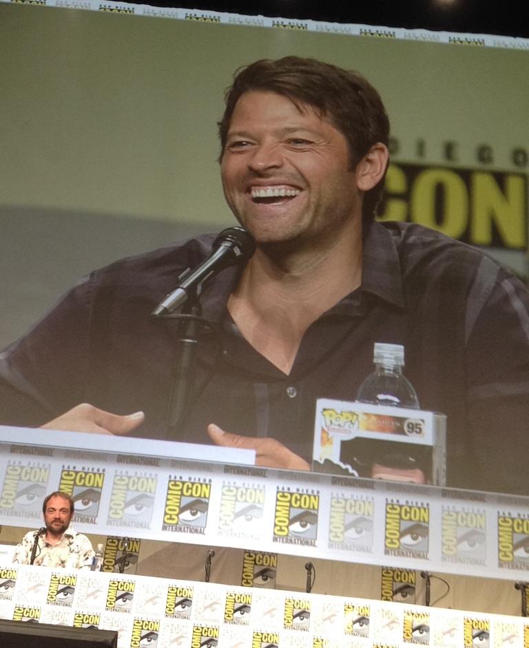 Misha smile! (Stop staring, Mark...)