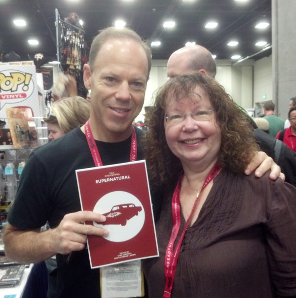 SPN exec producer Peter Johnson and his copy of Fan Phenomena