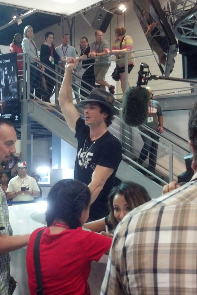 Ian Somerhalder gives fans a fistpump of encouragement