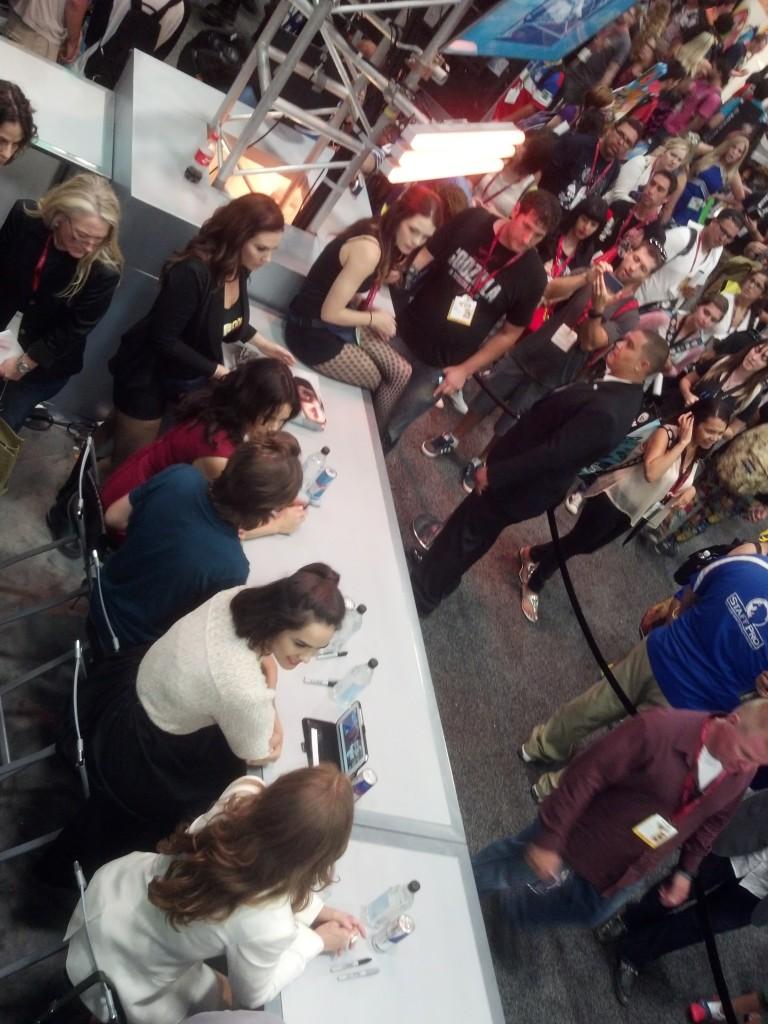 Shannyn at the Wayward Pines signing