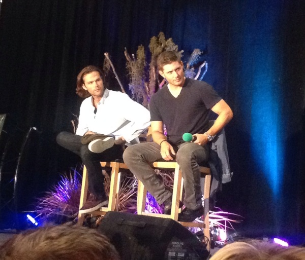 J2 listening intently to a fan's question