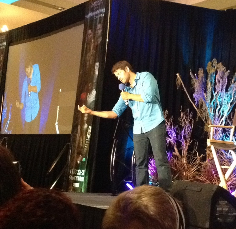 Misha: Bet I can make you come with one finger. Fans: O--o
