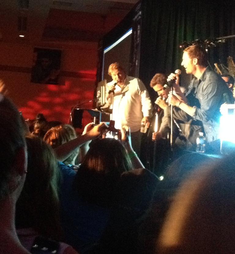 Jim Michaels, Rob and Tahmoh karaoke-ing