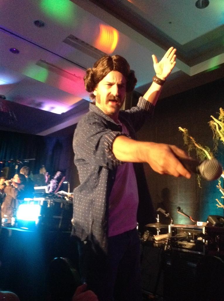 Richard rocking the Leia braids