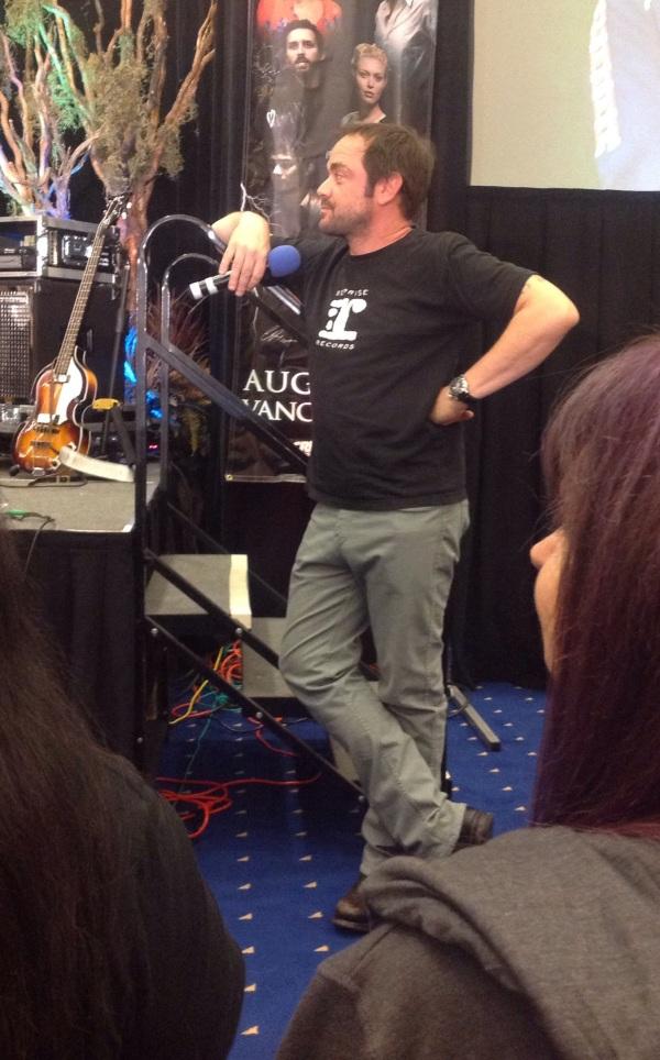 Mark listening to Alaina