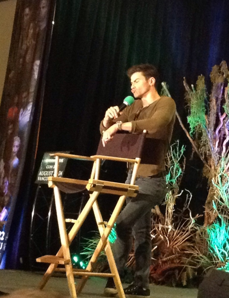 Matt does his best Jensen impression. hehe