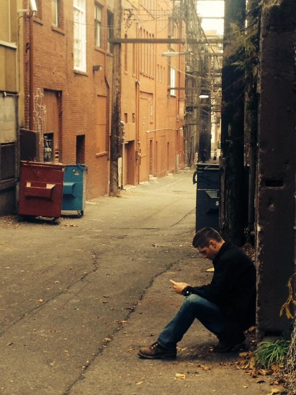 Jensen's Lonely Tweet from Set