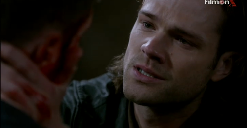 Sam holds a dying Dean, 9.23. [sob]