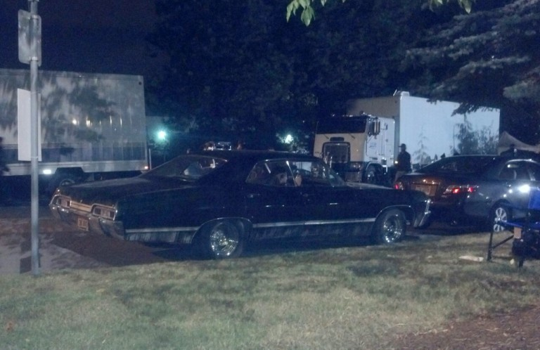 The Impala waits for her turn to film