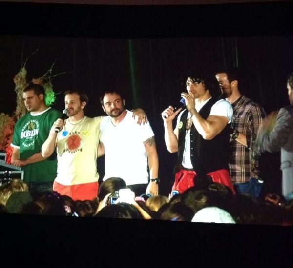 Richard, Mark, Matt and Gil  karaoke