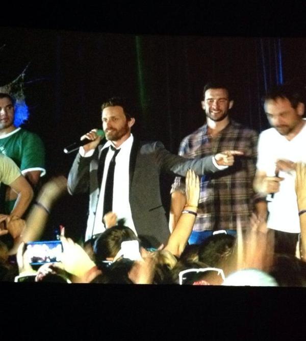 Rob, Gil and Mark at karaoke