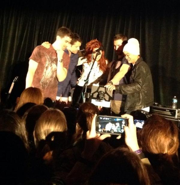 Matt, Misha, Alaina, Richard and Osric sing backup