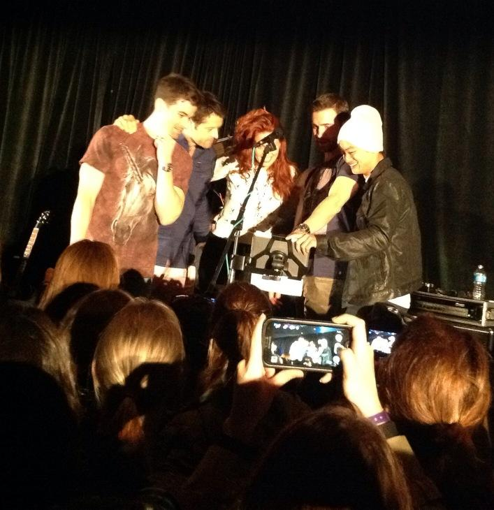 Matt, Misha, Alaina, Richard and Osric sing backup