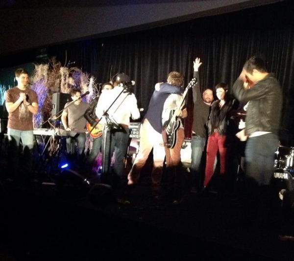 Misha hugs Rob