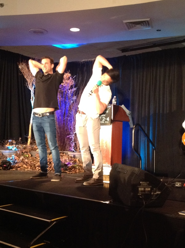 With Osric at DC Con. Shallow pic is shallow.