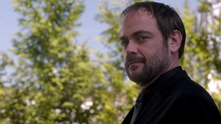 Crowley stares back. Hmm.