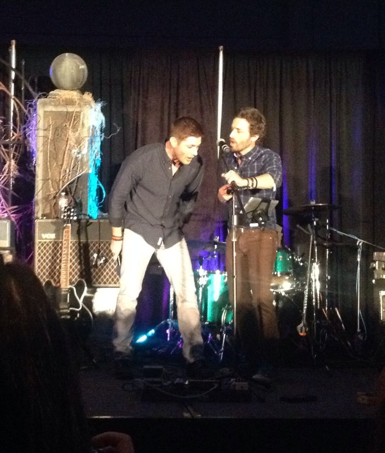 Singing 'Lose Your Love' w Rob Benedict and Louden Swain