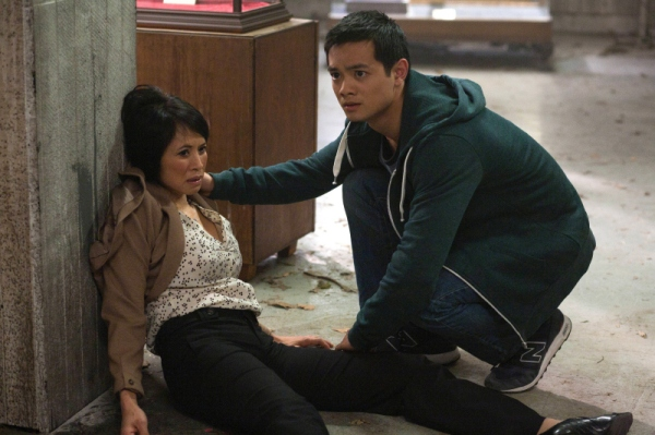 Lauren and Osric as Linda and Kevin Tran