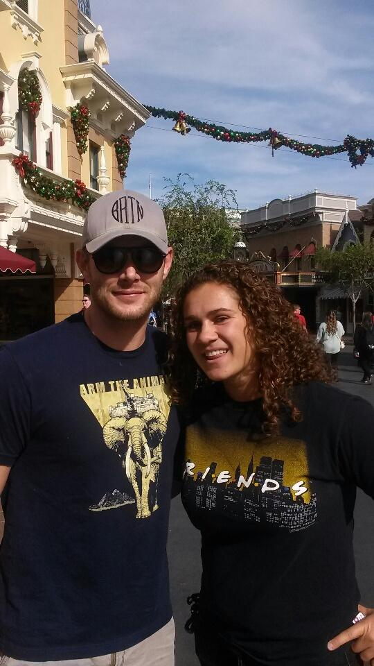 Jensen in his Arm the Animals tee shirt (tweet sabrinagrandkeb)