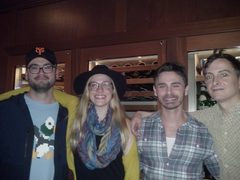 Jenny with fellow writers Robbie, Eric and Bob