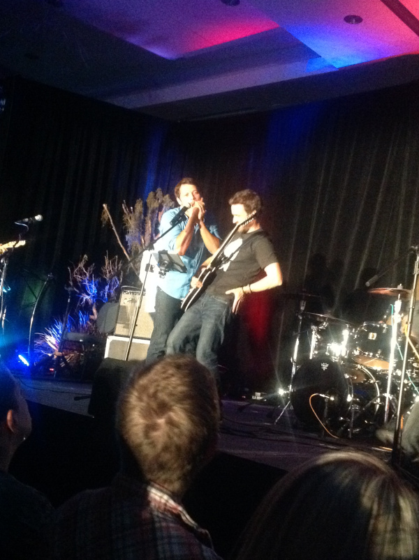 Misha whistles his appreciation for Rob and the band (VanCon 14)