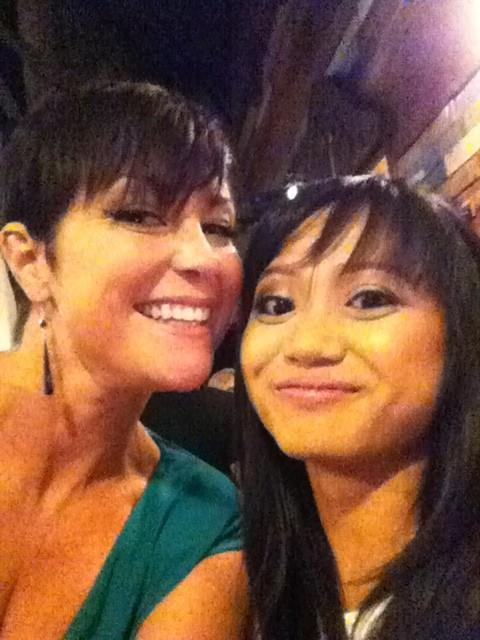 With Kim Rhodes at the fan party