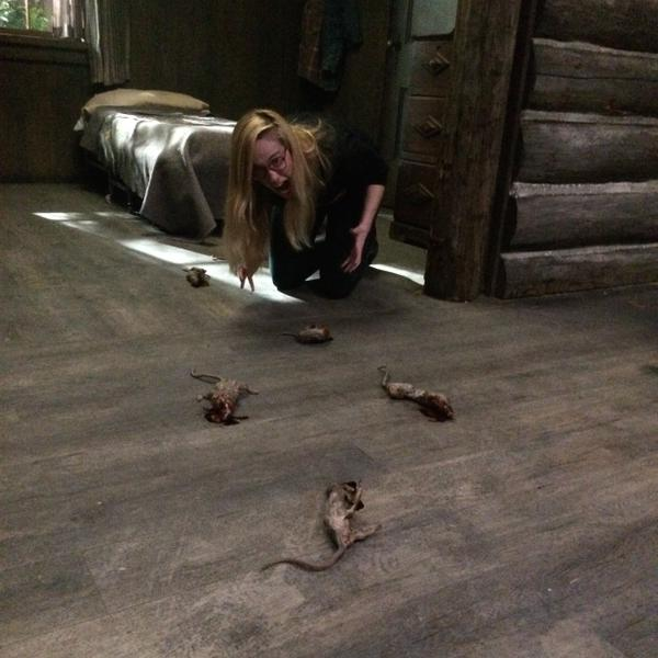 Jenny doesn't mind the EWWW - with dead rats...