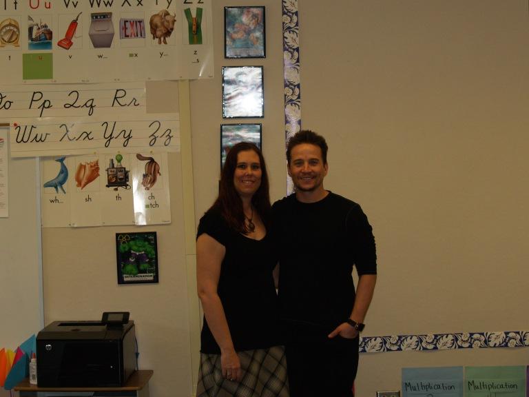 With teacher Alicia