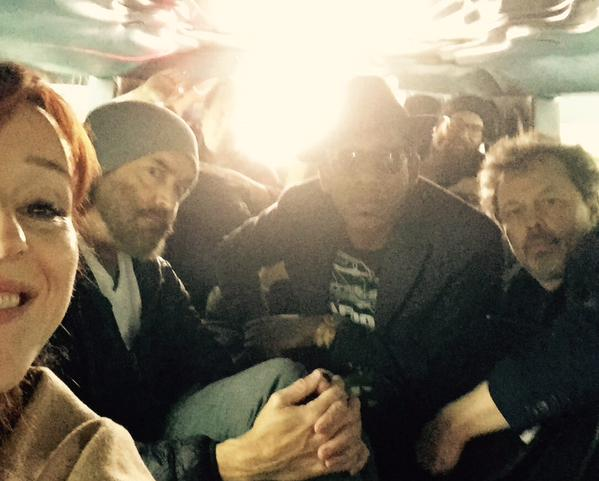 With Curtis, Tim Omundson and Orlando Jones at Asylum