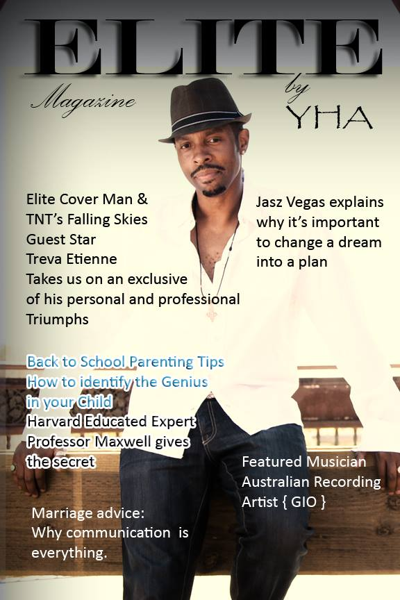 Elite Magazine cover, courtesy Treva Etienne