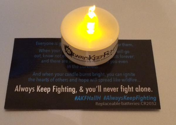 Tweet, William Shatner in support of AKF