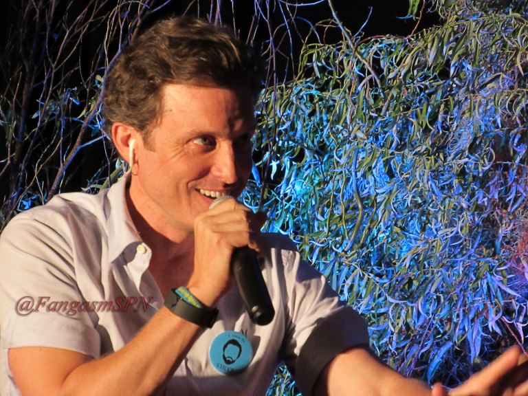 Rob Benedict belts out a song
