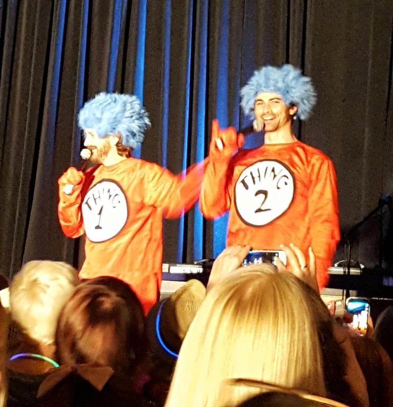 Richard and Matt as Thing 1 and Thing 2