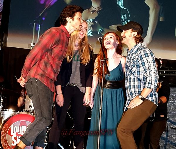 Matt, Kathryn, Ruth and Richard sing backup