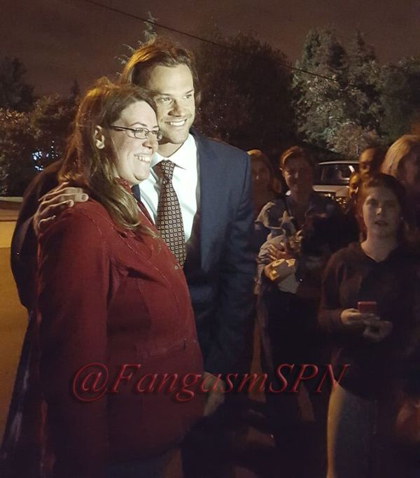 Jared takes time out for photos with fans