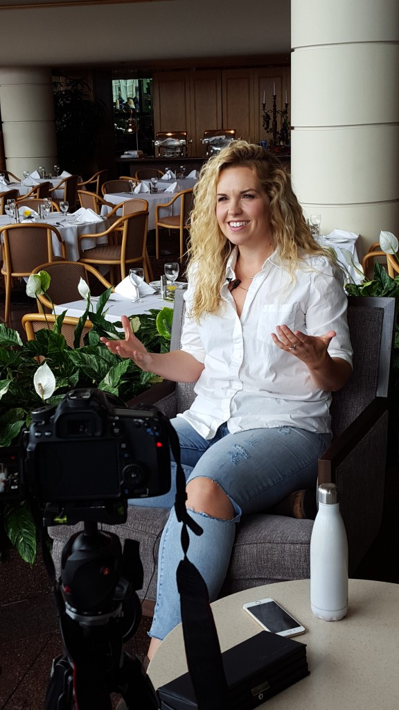 Briana Buckmaster films for Squee!