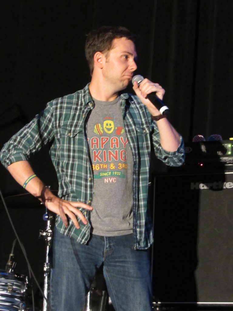 Gabe onstage with Chad at DCCon