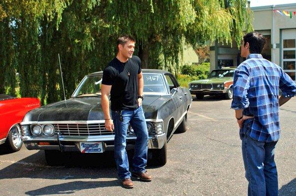 Matt as young John in the car lot
